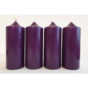 Adventkerze 300/80 violett