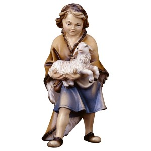 Junge mit Lamm der Hirtenkrippe