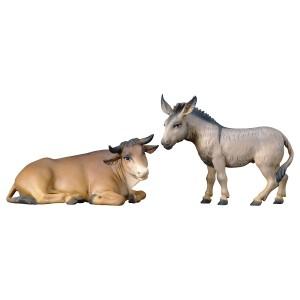 Ochs und Esel der Hirtenkrippe