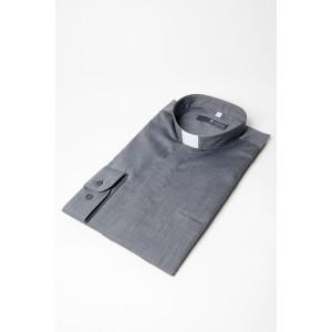 Kollarhemd, grau-meliert